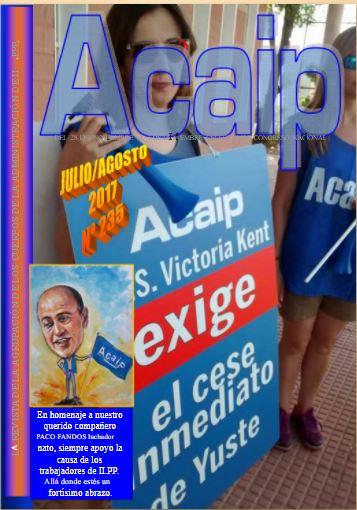 ACAIP EXIGE EL CESE INMEDIATO DE ANGEL YUSTE