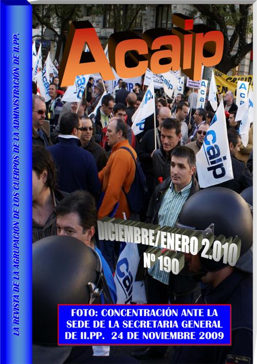 Concentración ante la sede de la SGIIPP el dia 24/11/2009
