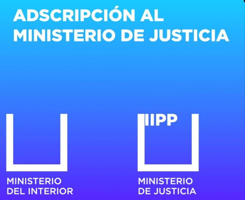 Adscripción al ministerio de Justicia