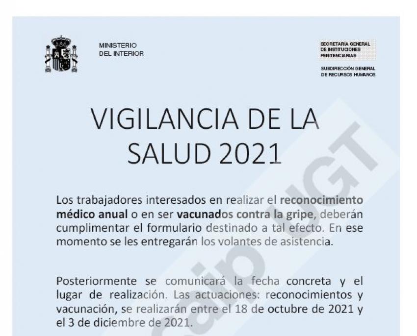 Vigilancia de la salud 2021