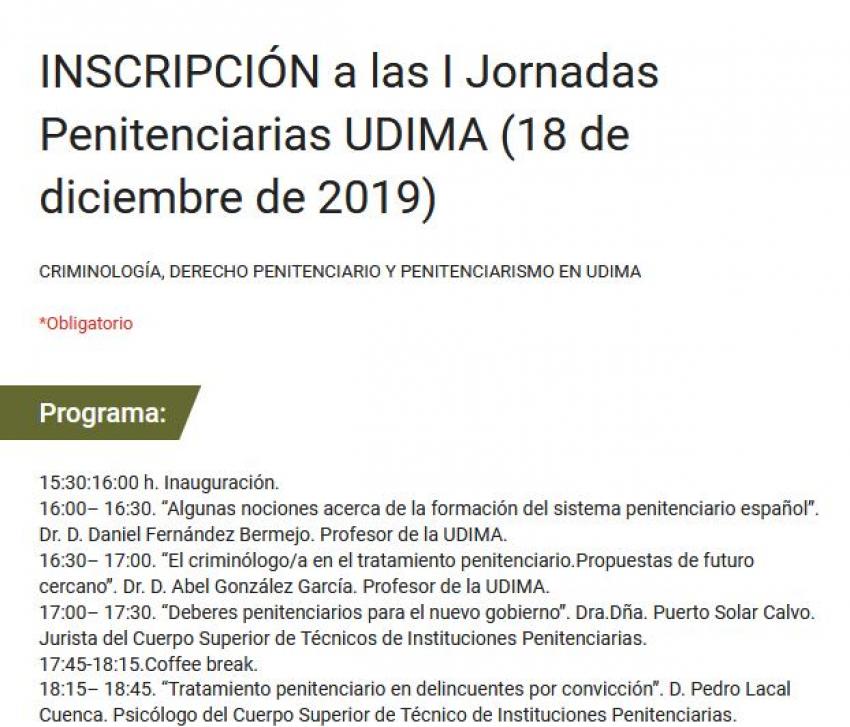 """I Jornadas Penitenciarias """"Criminología, Derecho Penitenciario y Práctica"""""""
