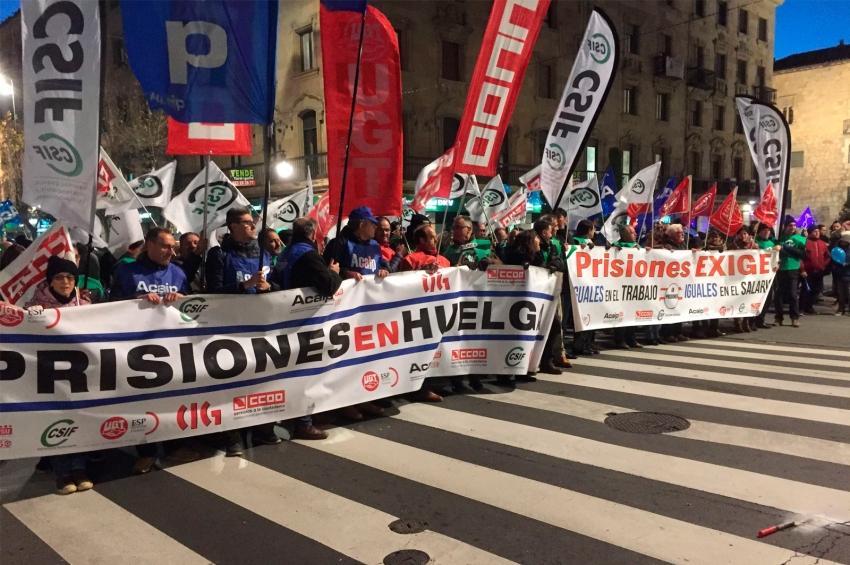 Manifestación de la plataforma sindical en Salamanca