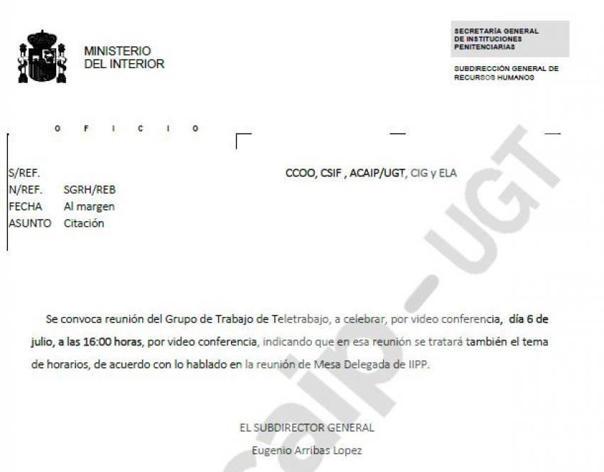 """Convocatoria grupo de trabajo de """"Teletrabajo"""""""