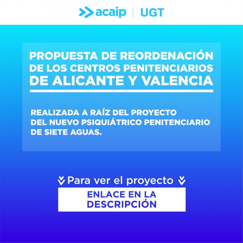 Propuesta reordenación centros penitenciarios valencianos