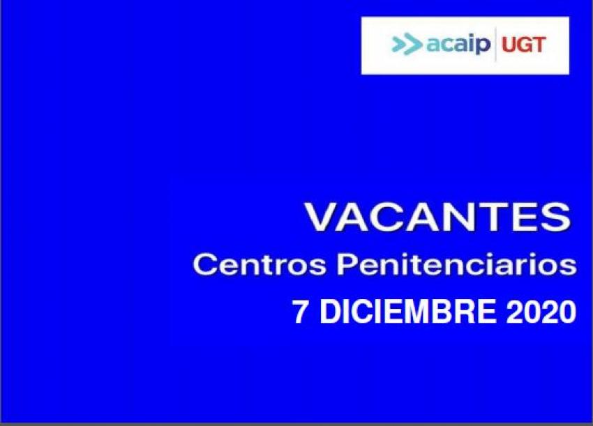 ACAIP-UGT publica las vacantes en los centros penitenciarios