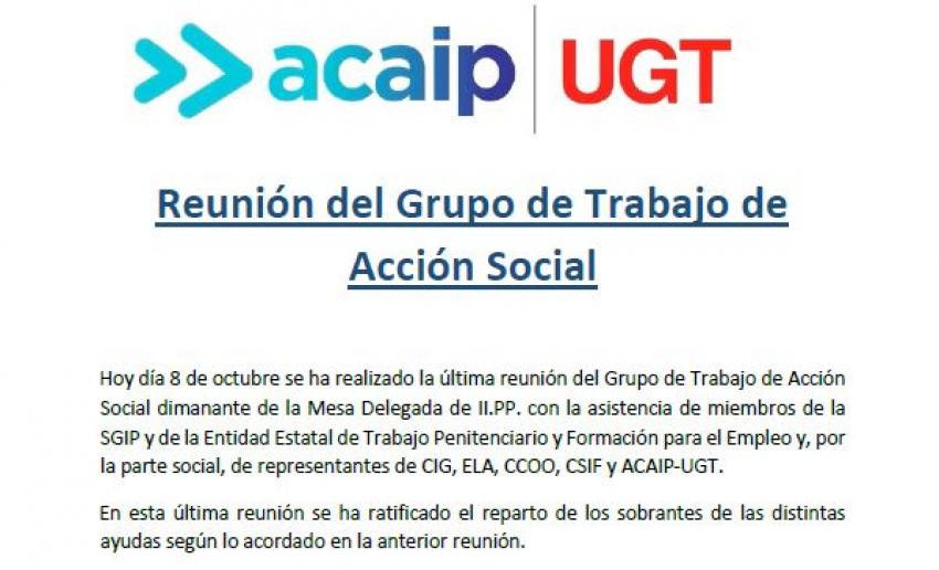 Nota informativa Acción Social 2020