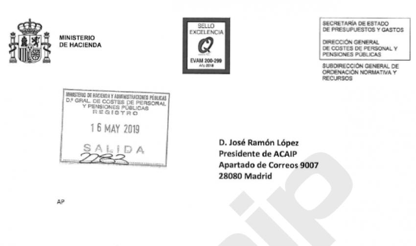 Consulta a Función Pública sobre regimen funcionarios Cuerpo Especial