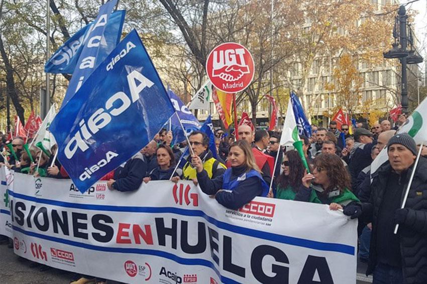Manifestación en Madrid 11 diciembre