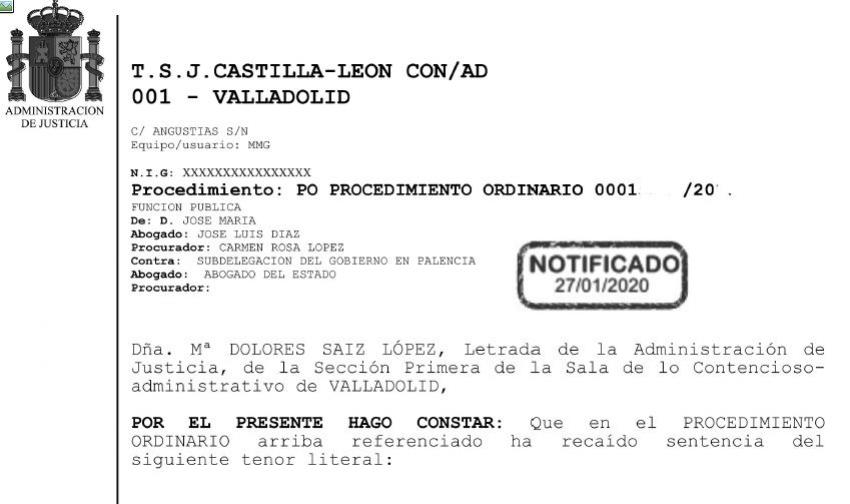 Acaip gana recurso ante TSJ de Castilla-León