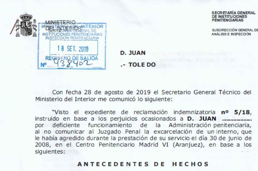Indemnización de mas de 70.000€ a un afiliado de Acaip