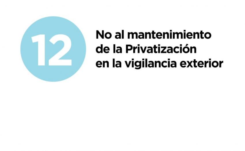 12 razones y medidas -12. No a la seguridad privada