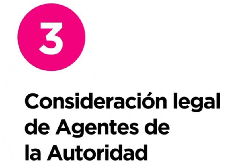 12 razones y medidas - 3. Consideración legal de agentes de la autoridad