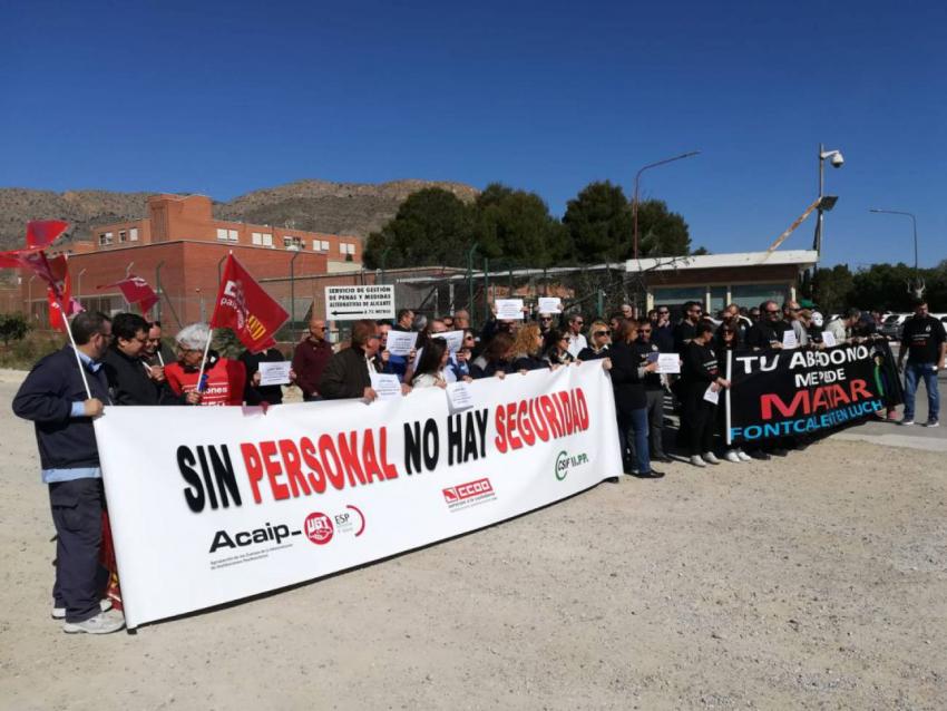 Protesta en Fontcalent contra la próxima apertura del módulo de madres
