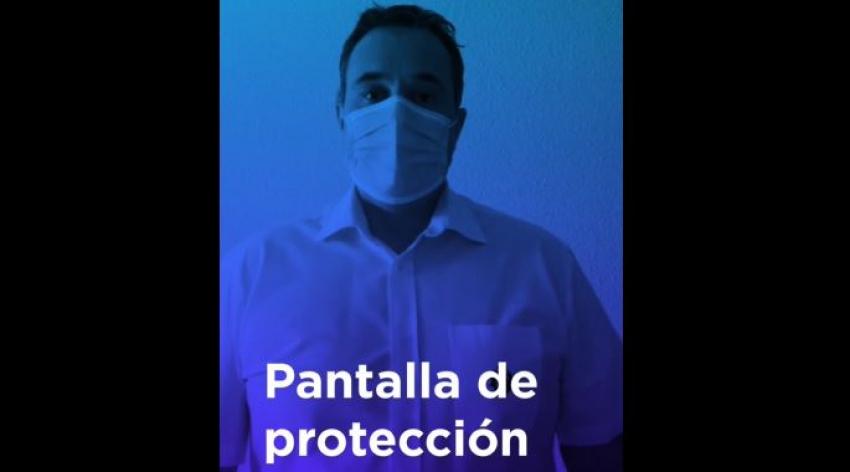 Instrucción utilizacion de EPIS: Utilización pantalla protectora