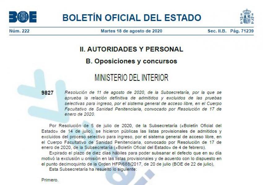 Admitidos-excluidos definivos Cuerpo facultativo II.PP