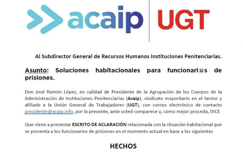 Acaip solicita soluciones habitacionales a los funcinari@s de prisiones