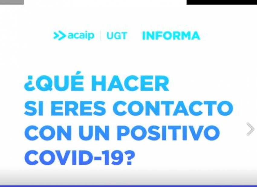 ¿Que hacer en caso de contacto con un positivo por Covid19?