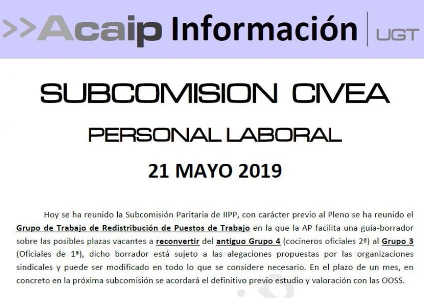 Reunión subcomisión CIVEA