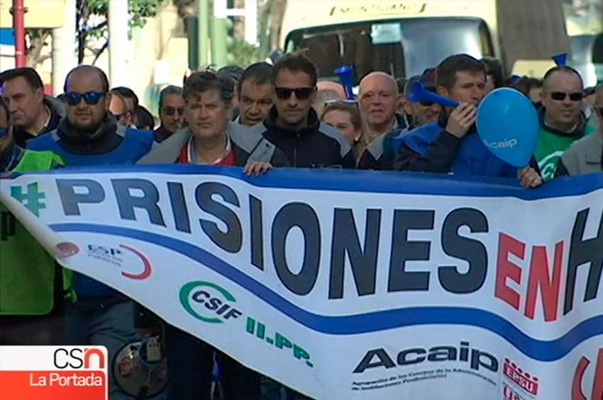 Movilizaciones de los funcionarios de prisiones en Jaén