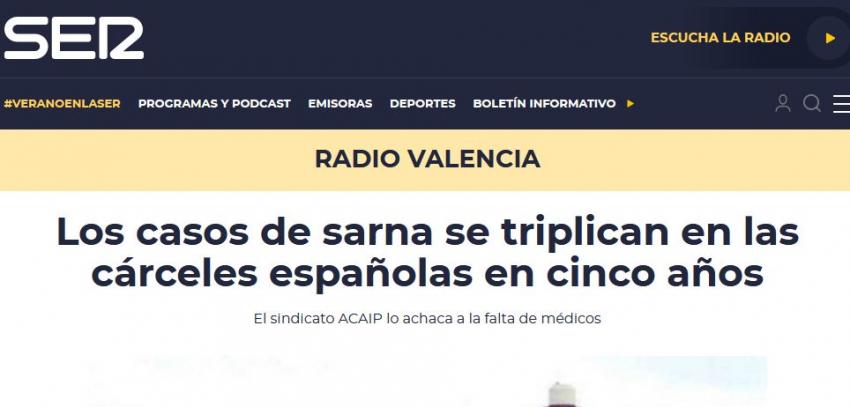 Entrevista en cadena ser sobre casos de sarna