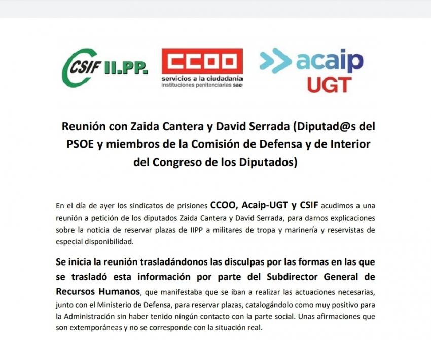 Reunión con Zaida Cantera y David Serrada
