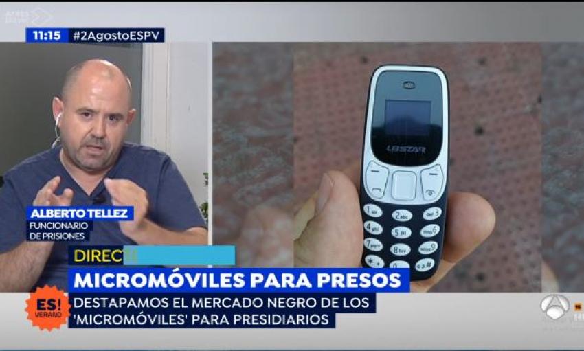 Denuncia en Espejo Publico situación inhibidores móviles en prisiones