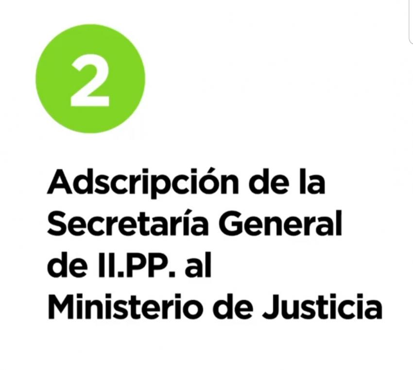 12 razones y medidas - 2. Adscripcion de la SGIIPP al Ministerio de Justicia