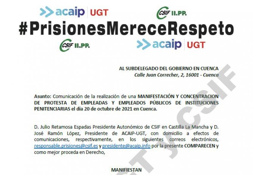 MANIFESTACIÓN EN CUENCA.-  20 OCTUBRE 2021