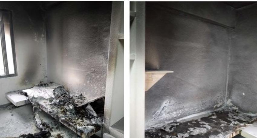 Funcionarios de MECO 2 salvan la vida de internos en incendio provocado