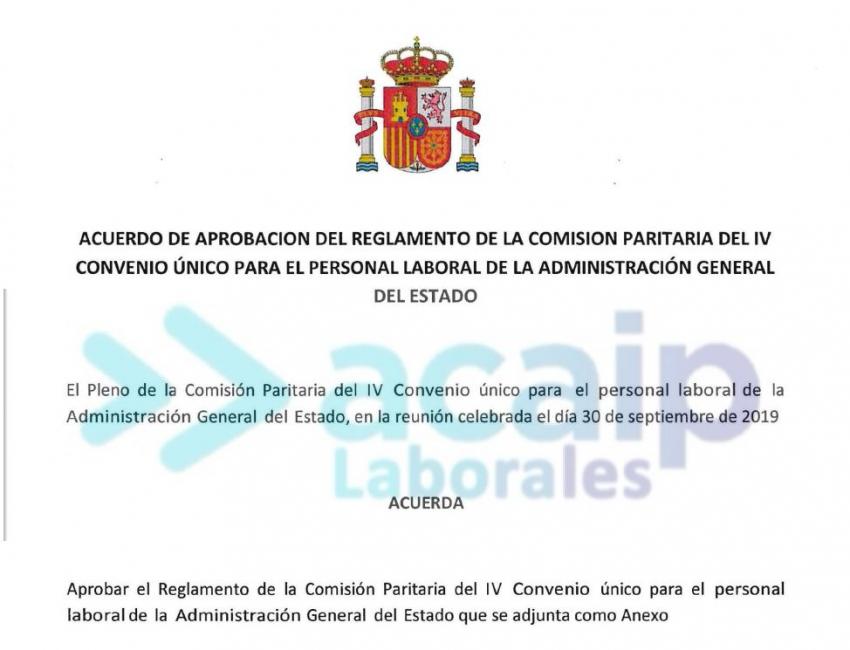 Personal laboral: Reglamento, permisos y pleno comisión sept 2019