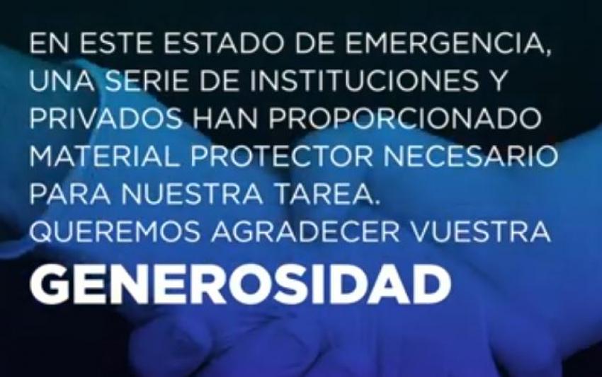 VIDEO  AGRADECIMIENTO  DONACIONES RECIBIDAS EN II.PP. Y GESTIONADAS POR ACAIP-UGT