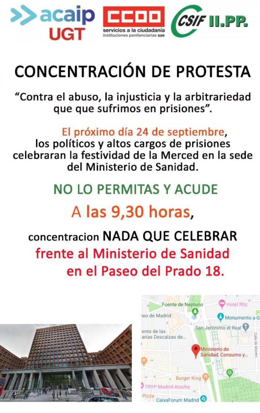 Concentración en Madrid dia 24 de septiembre
