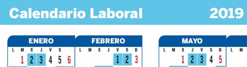 Calendario laborales 2019