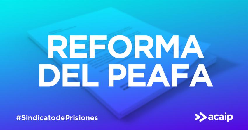 Por una reforma de la PEAFA (protocolo específico de actuación frente a las agresiones en los centros penitenciarios)