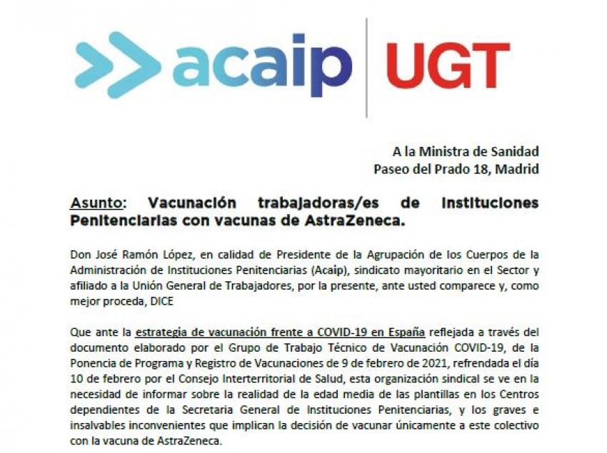 Petición vacunacion simultánea en II.PP