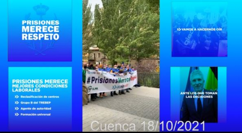 Recibimiento a Marlaska en Cuenca /18/10/21)