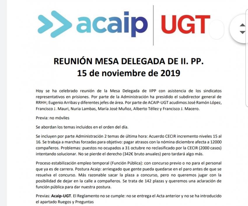 Comunicado reunion mesa delegada IIPP (15-11-19)