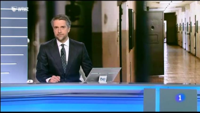 Contagiados por coronavirus en prisiones TVE1 Noticias