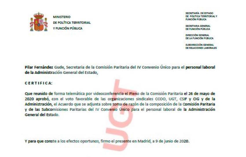 P. Laboral.- Composiciones subcomisiones